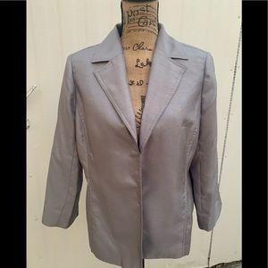 Susan Graver Blazer size Medium Silver Jacket